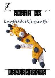 WHAZZ UP haakpatroon knuffeldoekje giraffe