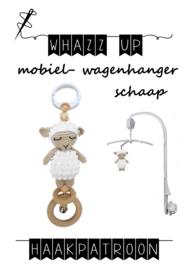 WHAZZ UP haakpatroon schaap voor mobiel/ box/ wagenhanger