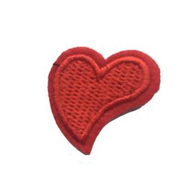 strijkapplicatie mini hartje
