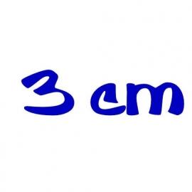strijkletters 3 cm hoog