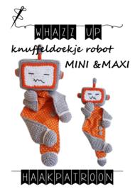 WHAZZ UP haakpatronen knuffeldoekje robot MINI en MAXI