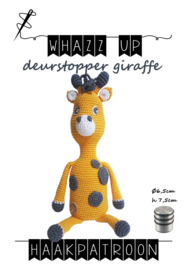 WHAZZ UP haakpatroon deurstopper giraffe