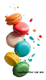 SUPER full color strijkapplicatie macarons