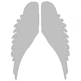 veloursmotief witte vleugels