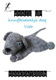 WHAZZ UP haakpatroon knuffeldoekje dog Vito