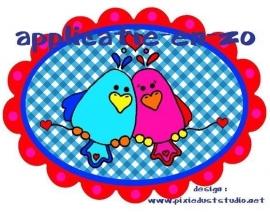 SUPER full color applicatie Love Birds