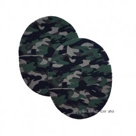 kniestukken army groen kleine print (opstrijkbaar)