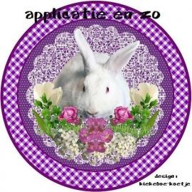 SUPER full color applicatie konijntje