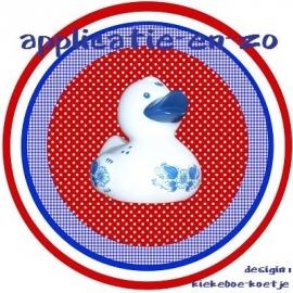 SUPER full color applicatie delfts blauwe badeend