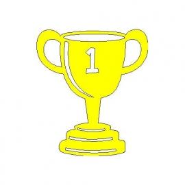 veloursmotief kampioensbeker