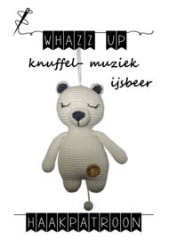 WHAZZ UP haakpatroon knuffel/ muziek ijsbeer