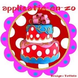 SUPER full color applicatie taart rond