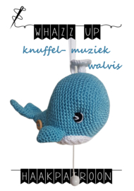 WHAZZ UP haakpatroon knuffel/ muziek walvis