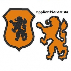 serie van 2 Hollandse (voetbal) leeuwen