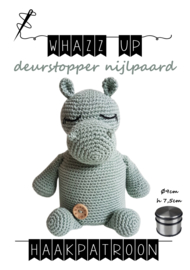 WHAZZ UP haakpatroon deurstopper nijlpaard