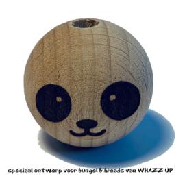 WHAZZ UP houten kraal  panda 25 mm