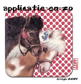 ZZIPP full color strijkapplicatie paardjes