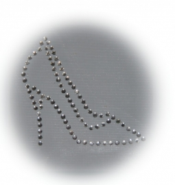 Rhinestone strijkapplicatie pump