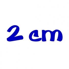 strijkletters 2 cm hoog