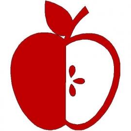 veloursmotief appel