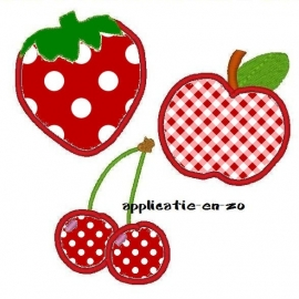 serie van 3 zomerfruit patronen