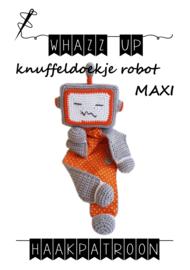 WHAZZ UP haakpatroon knuffeldoekje robot MAXI