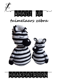 WHAZZ UP haakboekje (set) tuimelaars zebra