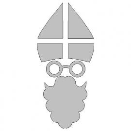 veloursmotief Sinterklaas (wit)