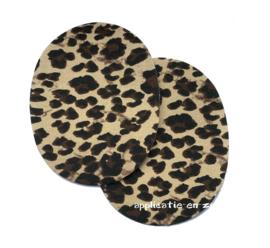 kniestukken panterprint (2st) opstrijkbaar