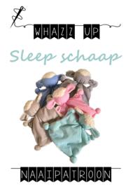 WHAZZ-UP naaipatroon sleep schaap (knuffeldoekje)
