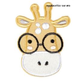 strijkapplicatie dierenhoofd giraffe