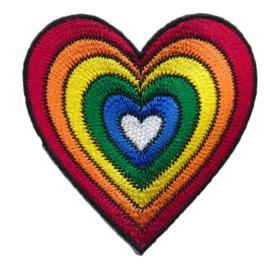 strijkapplicatie regenboog hart
