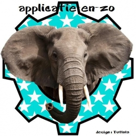 SUPER full color applicatie olifant