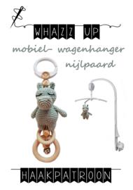 WHAZZ UP haakpatroon nijlpaard voor mobiel/ box/ wagenhanger