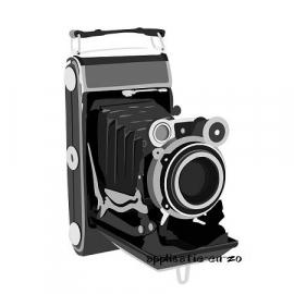 SUPER full color strijkapplicatie vintage camera