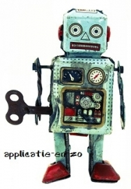 SUPER full color strijkapplicatie vintage robotje