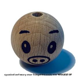 WHAZZ UP houten kraal big 25 mm