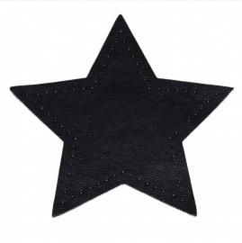 kniestukken ster donker blauw (2 stuks) opstrijkbaar