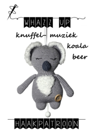 WHAZZ UP haakpatroon knuffel/ muziek koalabeer