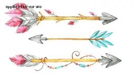 SUPER full color strijkapplicatie Ibiza pijlen