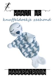 WHAZZ UP haakpatroon knuffeldoekje zeehond
