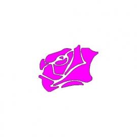 veloursmotief roos