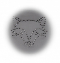 Rhinestone strijkapplicatie vosje