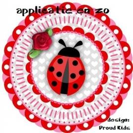 PK full color strijkapplicatie lieveheersbeestje