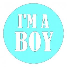 veloursmotief I'M A BOY