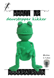 WHAZZ UP haakpatroon deurstopper kikker