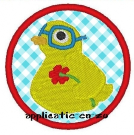 freebie vreemde vogel button