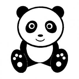 veloursmotief panda