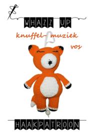 WHAZZ UP haakpatroon knuffel/ muziek vos
