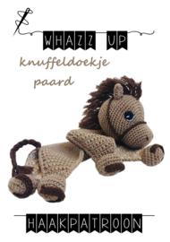 WHAZZ UP haakpatroon knuffeldoekje paard